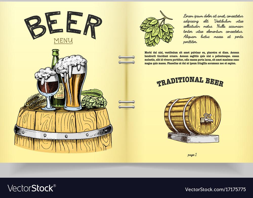 Beer classical wooden barrels for logo or emblem