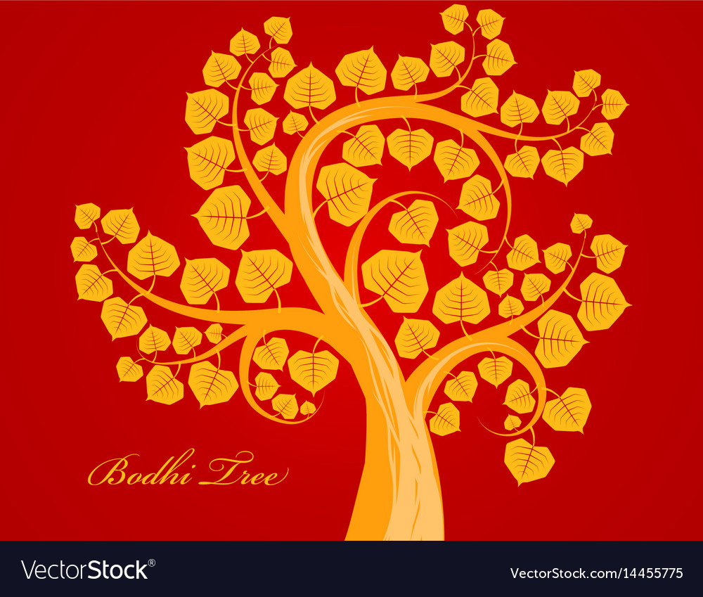Gold bodhi tree scene