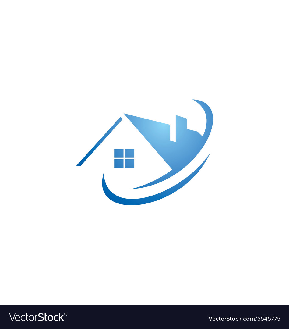 House Abstract Roof Construction Logo Royalty Free Vector