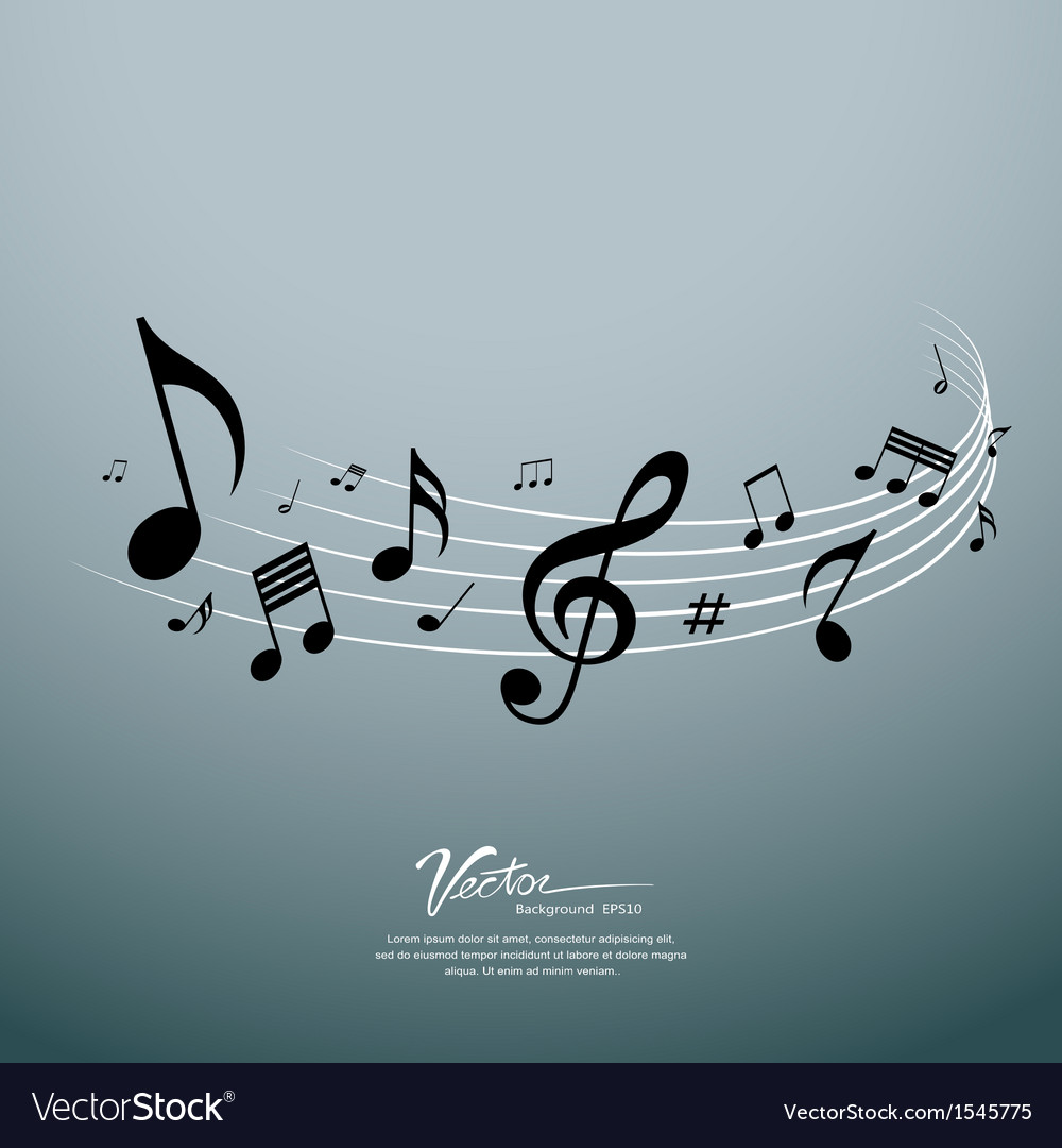 Musical notes design background