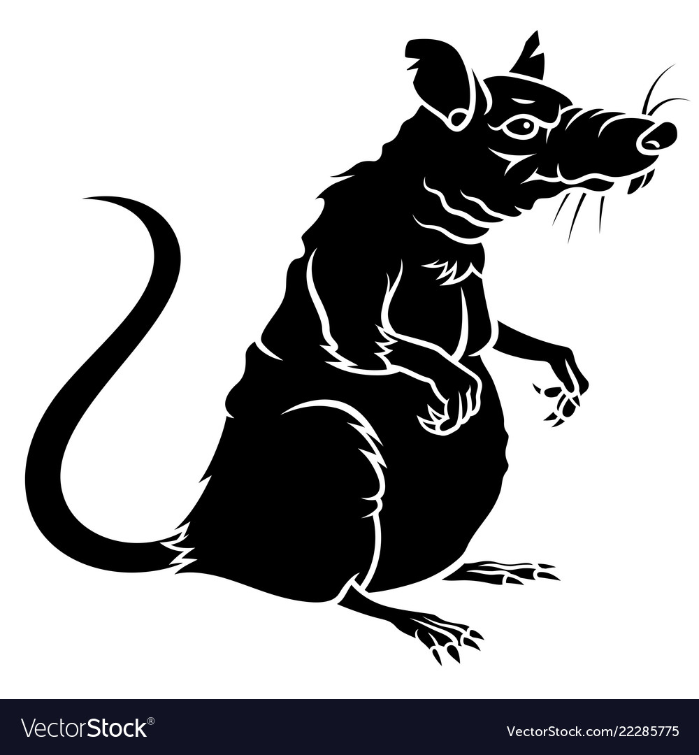 rat silhouette 001 royalty free vector image vectorstock vectorstock