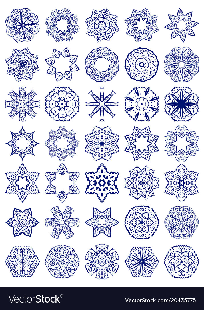 set of simple sacred geometry symbols royalty free vector