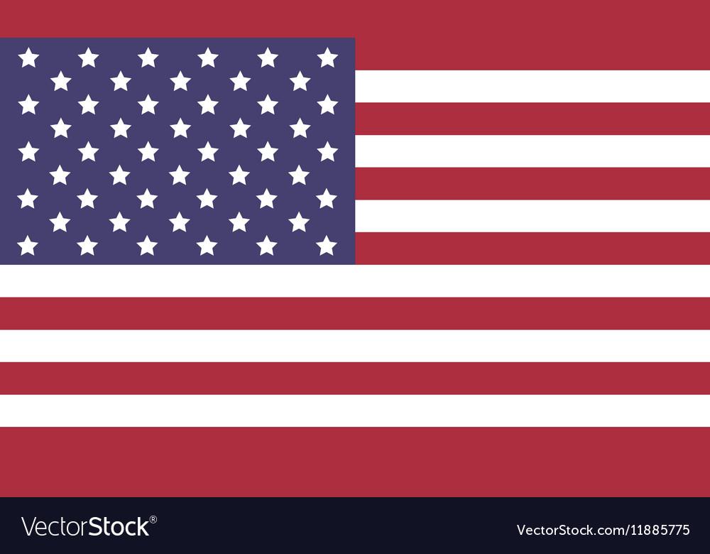 united states flag icon flat royalty free vector image rh vectorstock com Texas Flag Vector Texas Flag Vector