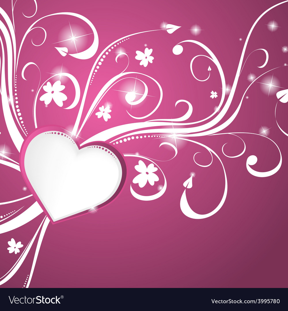 beautiful pink heart background vector 3995780