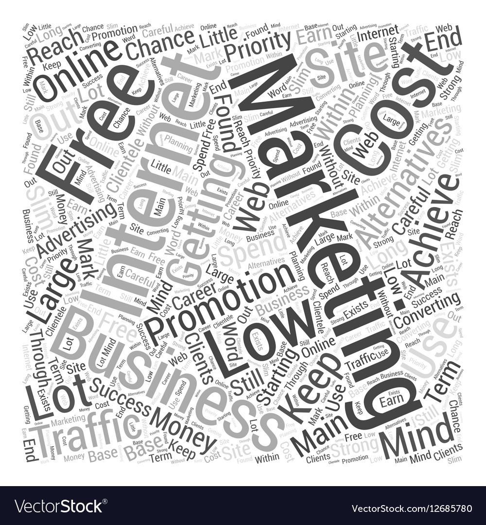 Internet marketing promotion Word Cloud Concept vector image