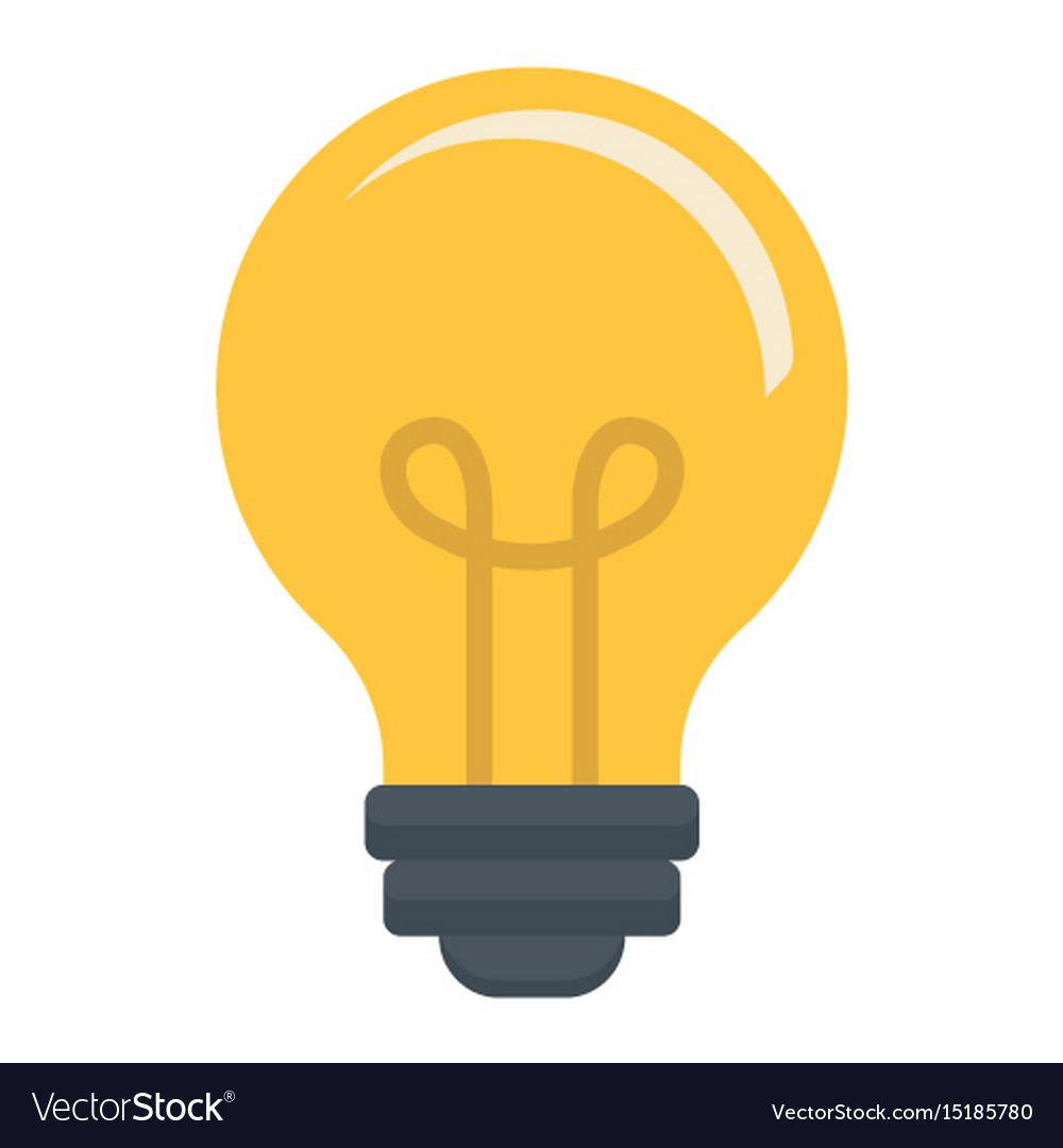Light bulb flat icon lamp and idea light