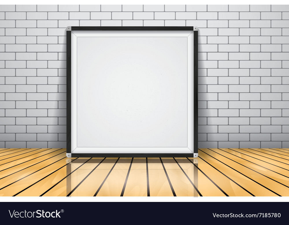 Mock up for presentation framed signboard standing vector image