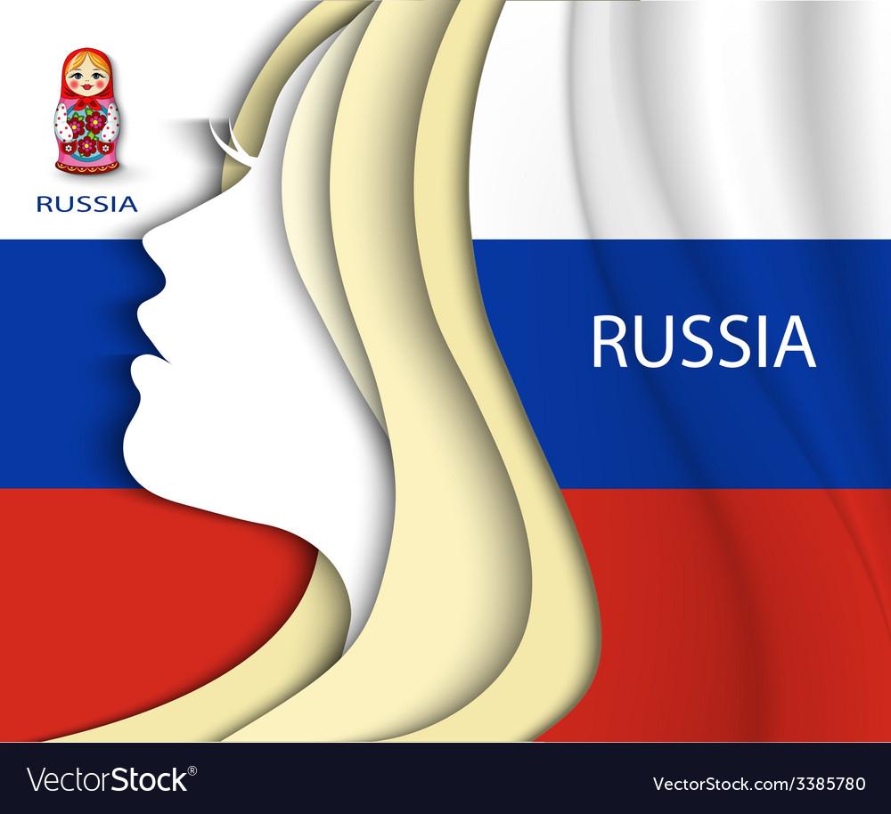 Russian woman flag