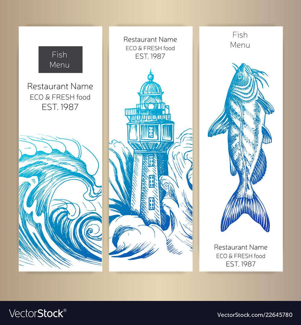 Sketch - logo seafood card