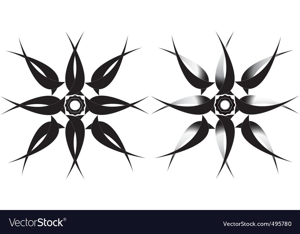 Tribal star tattoo vector image