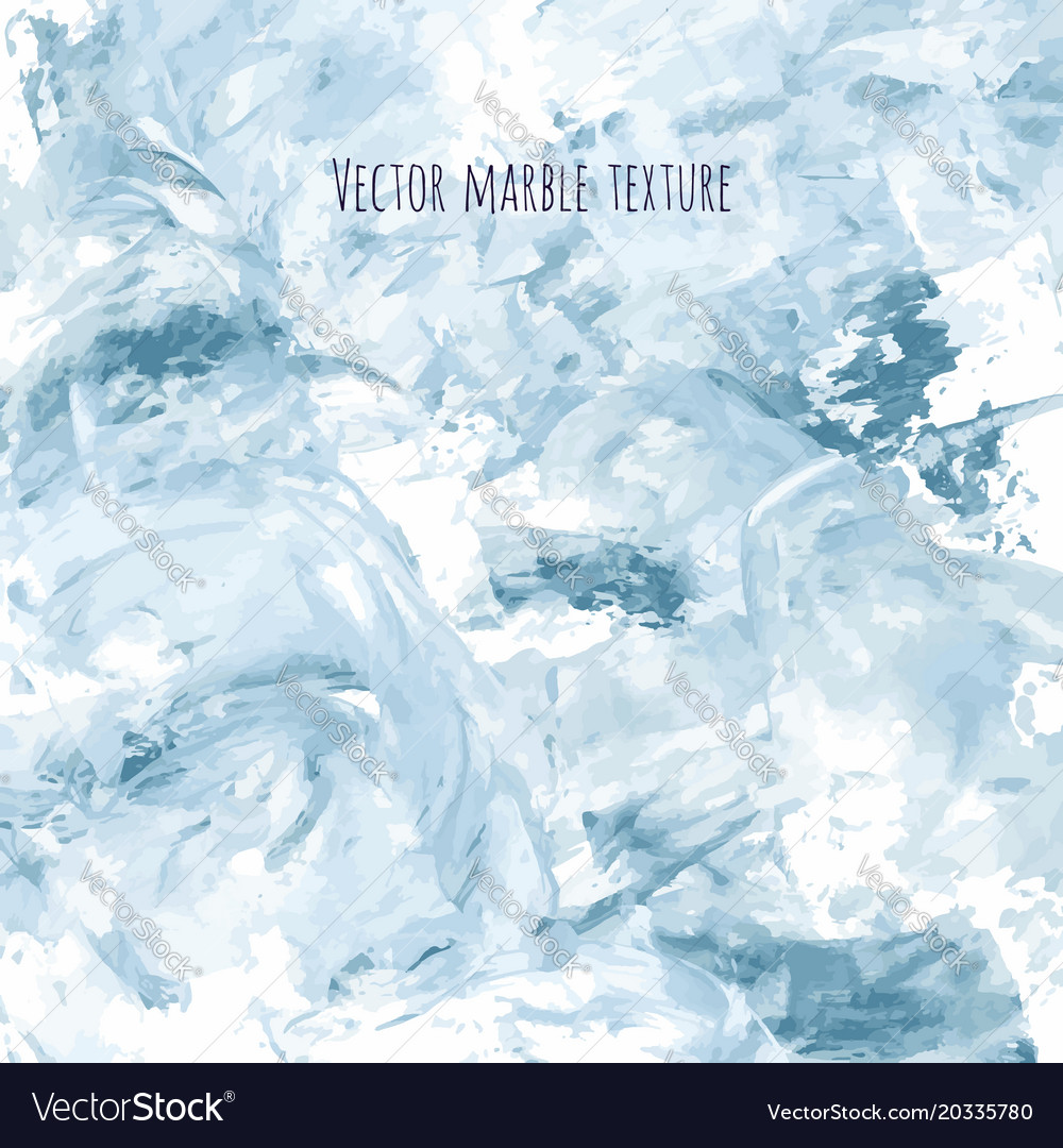 White Gray Navy Blue Marble Watercolor Texture Vector Image
