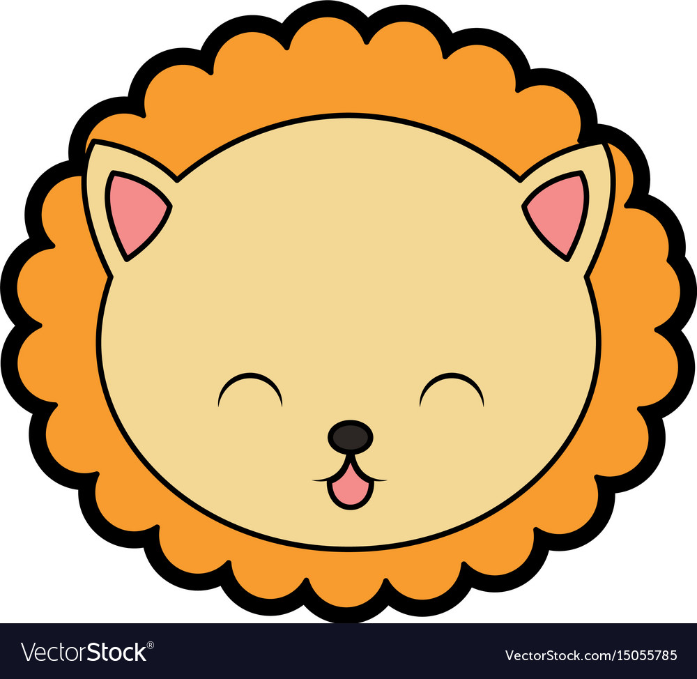cute lion face cartoon royalty free vector image rh vectorstock com vector facebook vector facebook icon