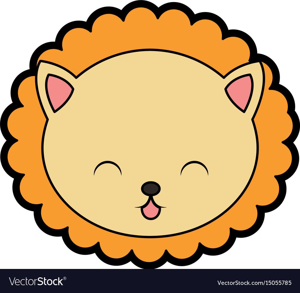cute lion face cartoon royalty free vector image rh vectorstock com vector face game vector facebook game