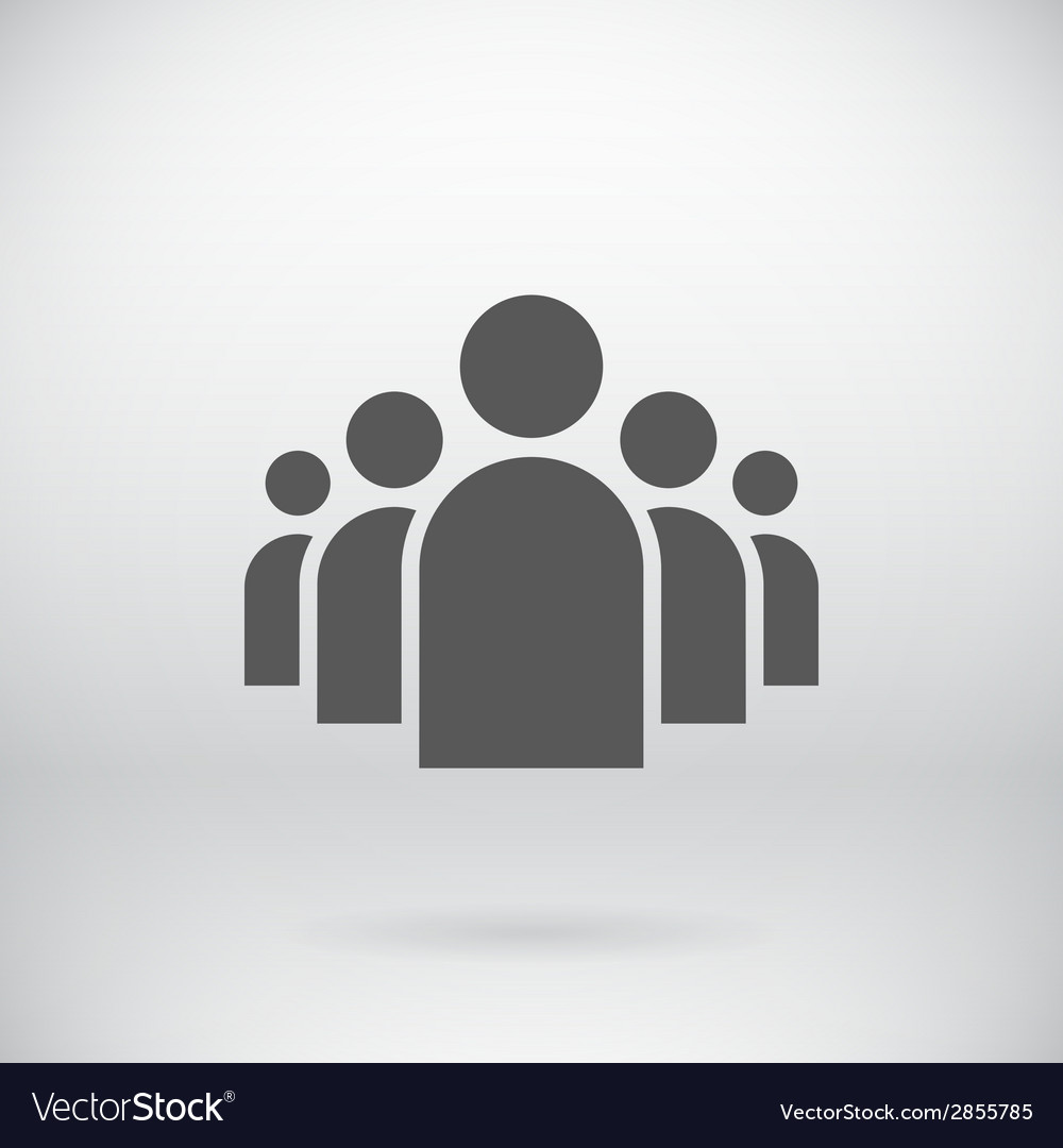 Flat Group of People Icon Symbol Background