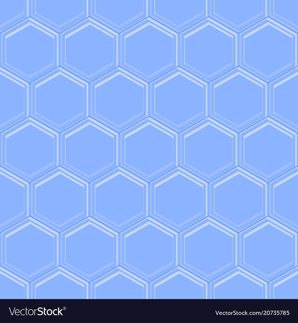 Hexagonal seamless embossed background in light