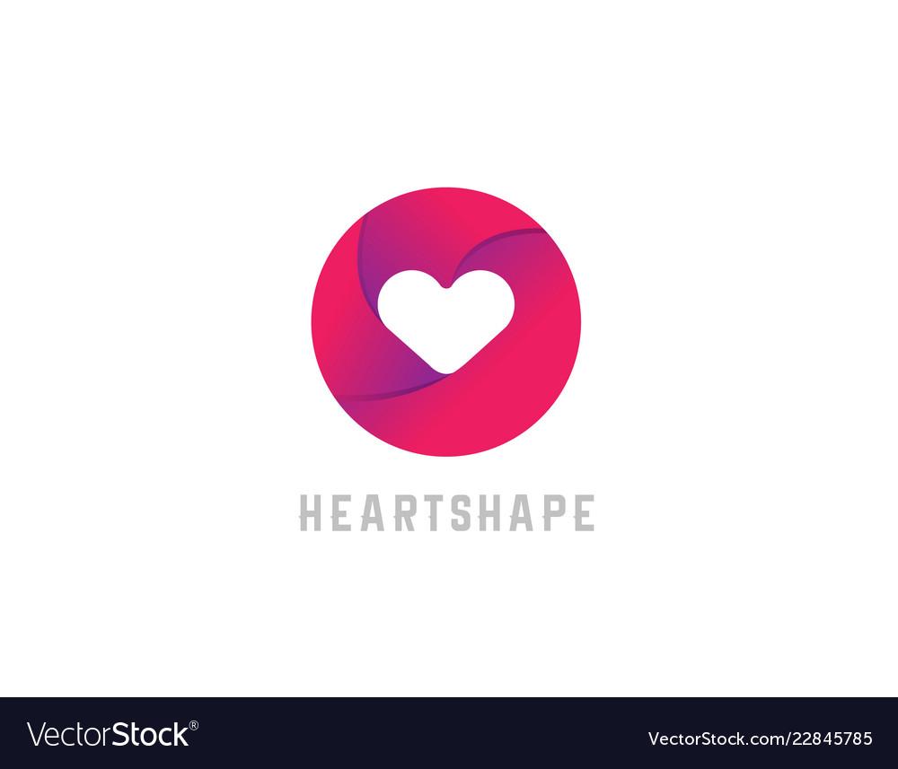 Love heart shape logo