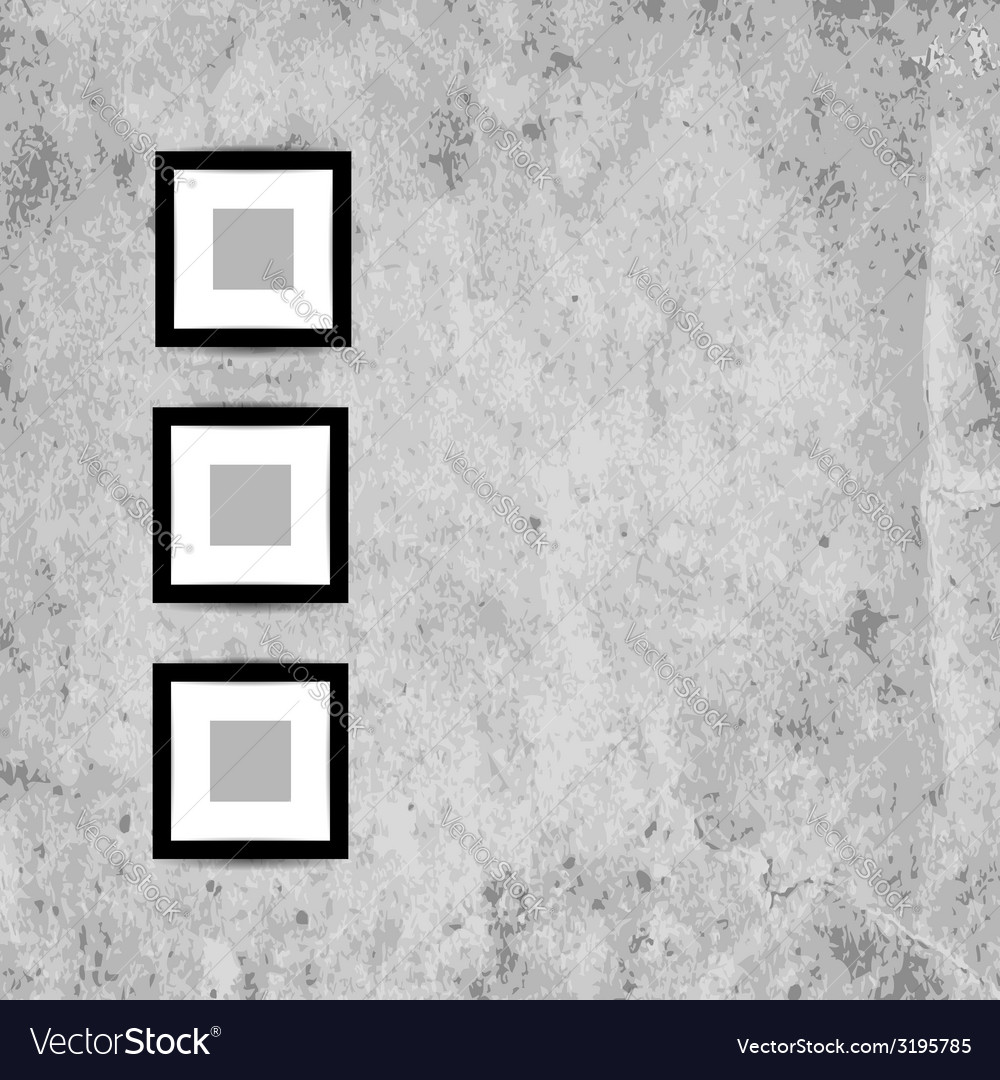 Retro picture frames on grunge wall for your