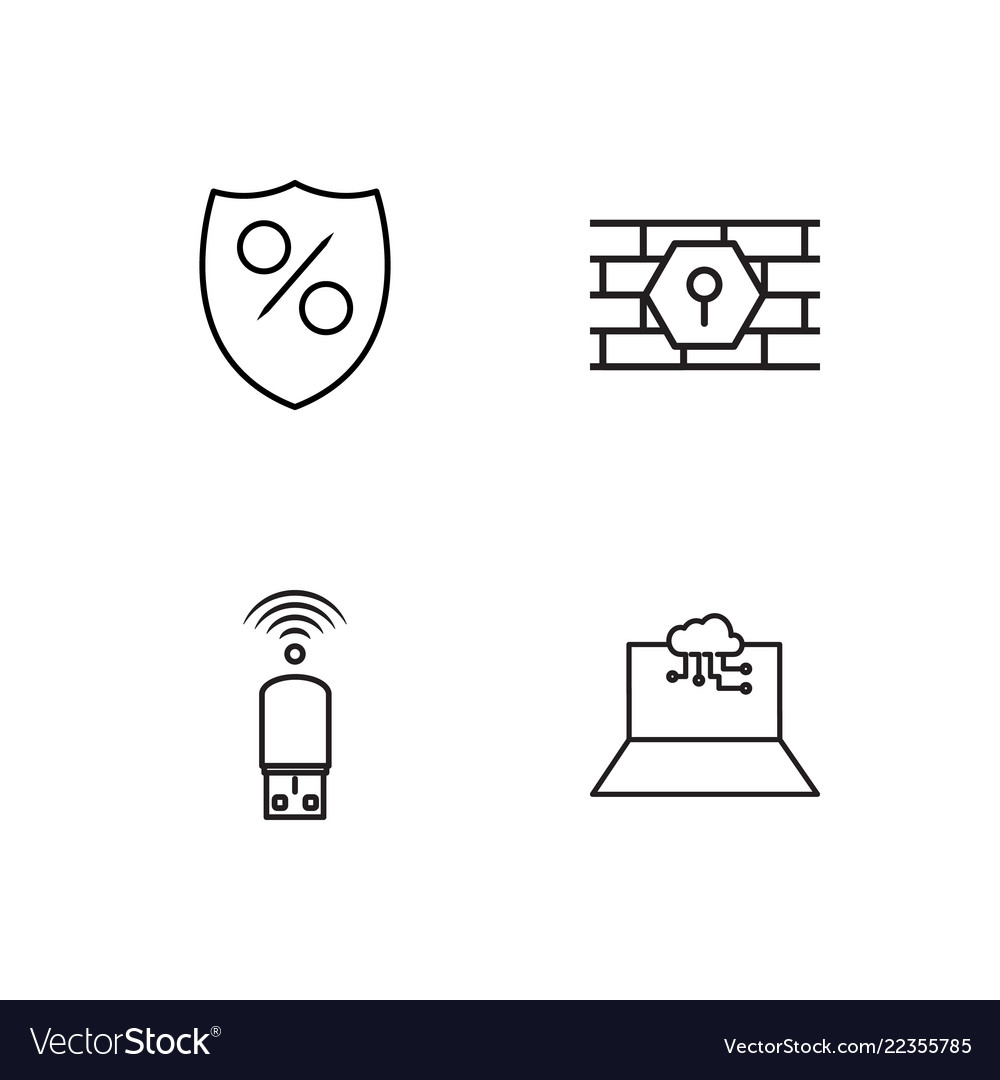 Web simple outlined icons set