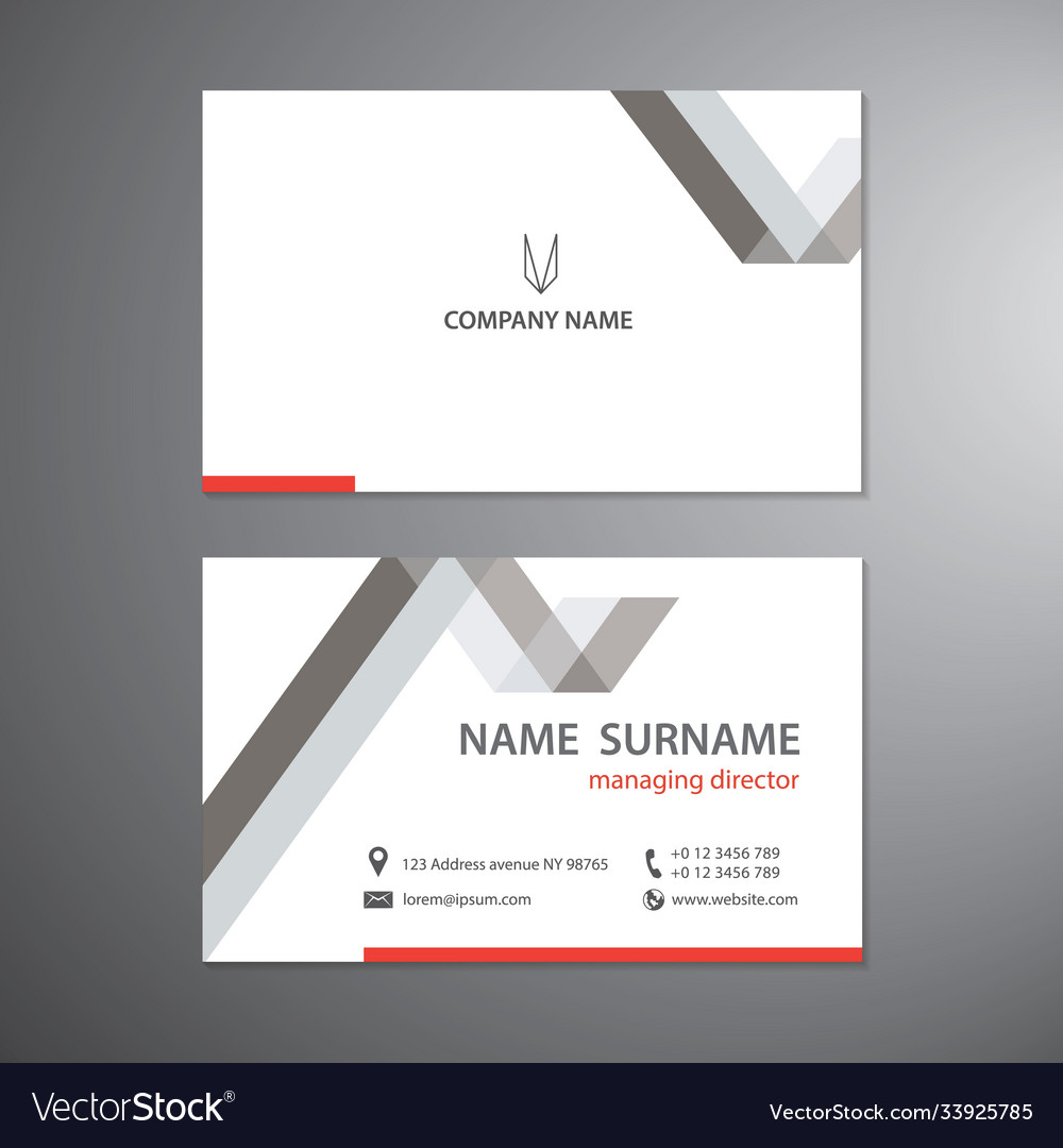 White business cards set design template