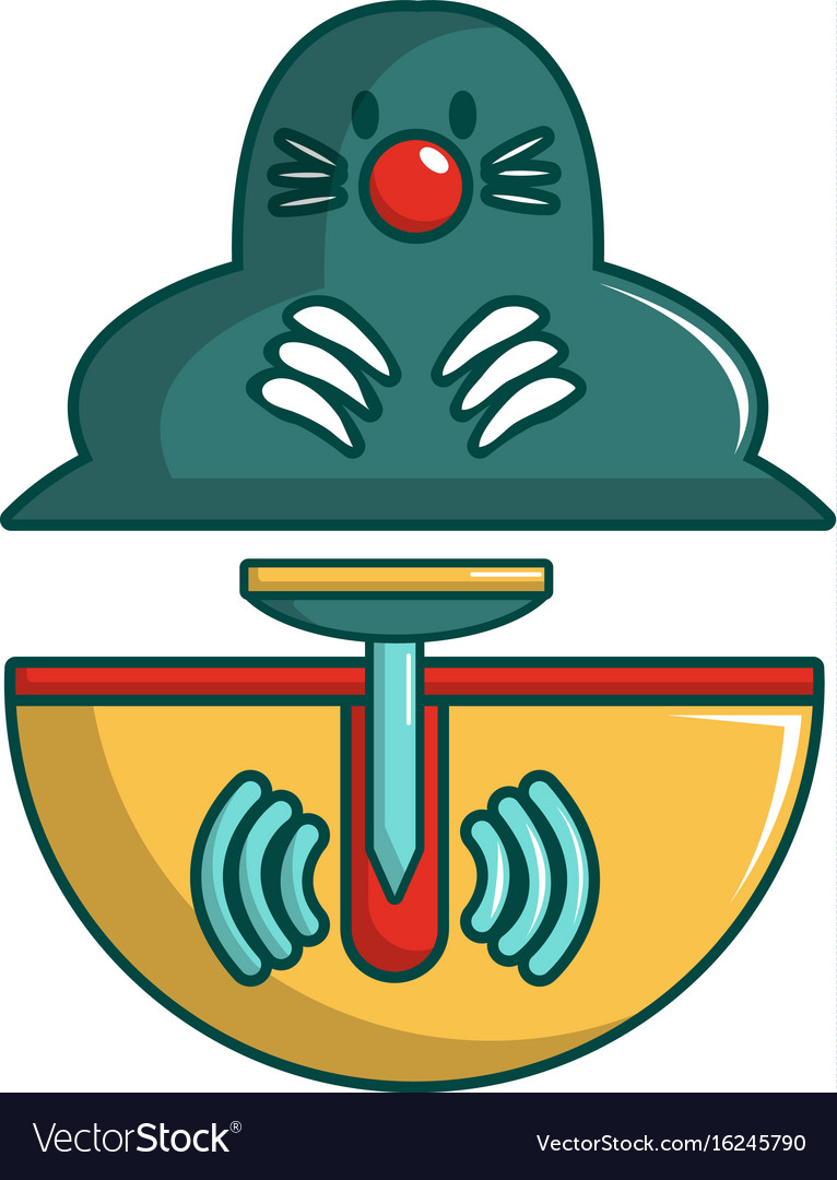 Anti rodents device icon cartoon style vector image