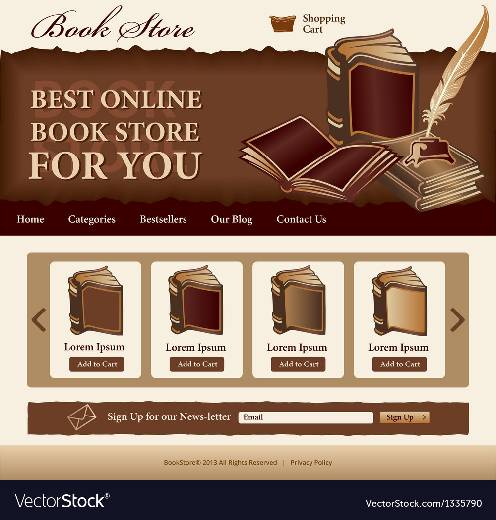 book store template royalty free vector image vectorstock