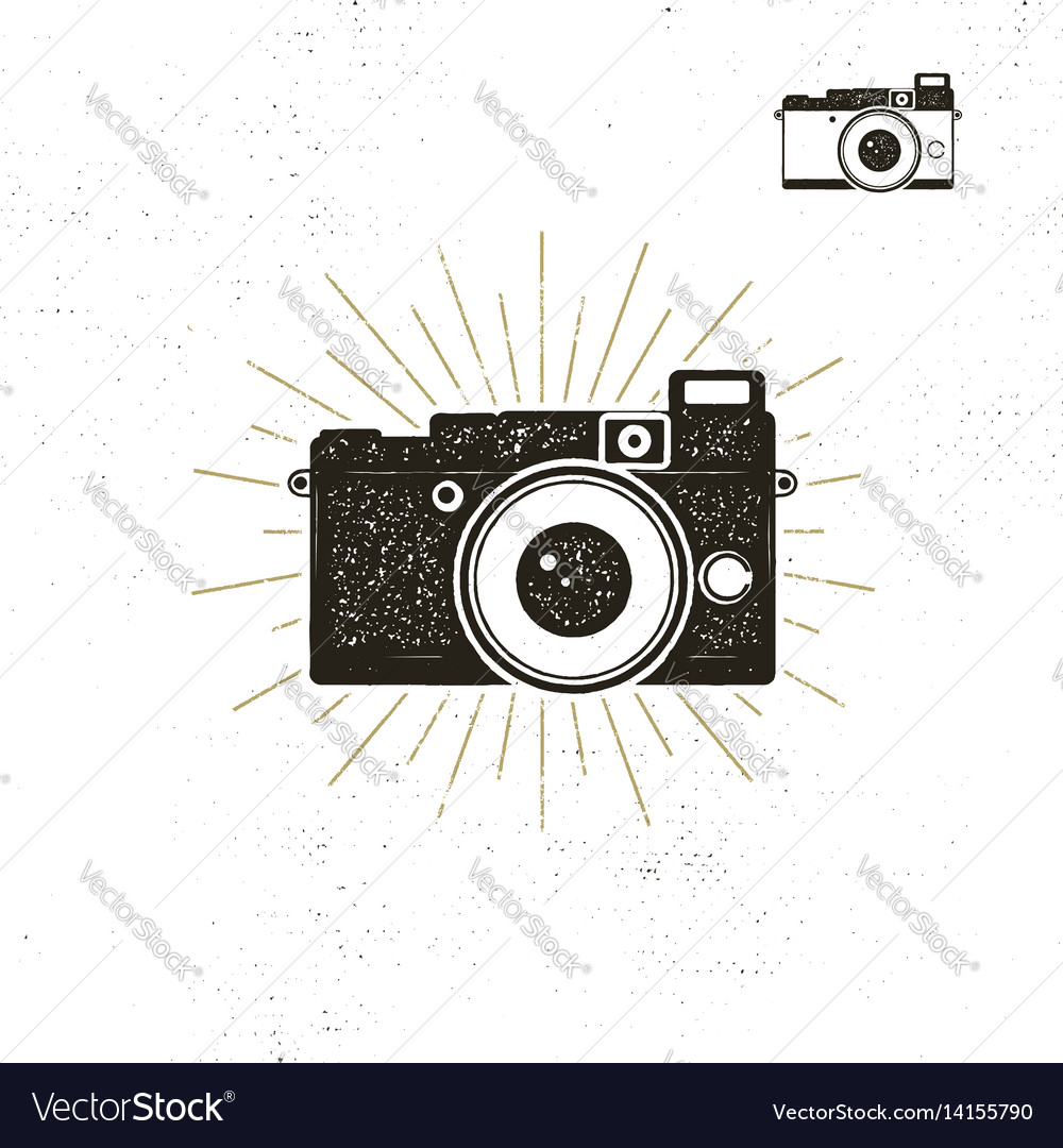 Camera icon silhouette vector