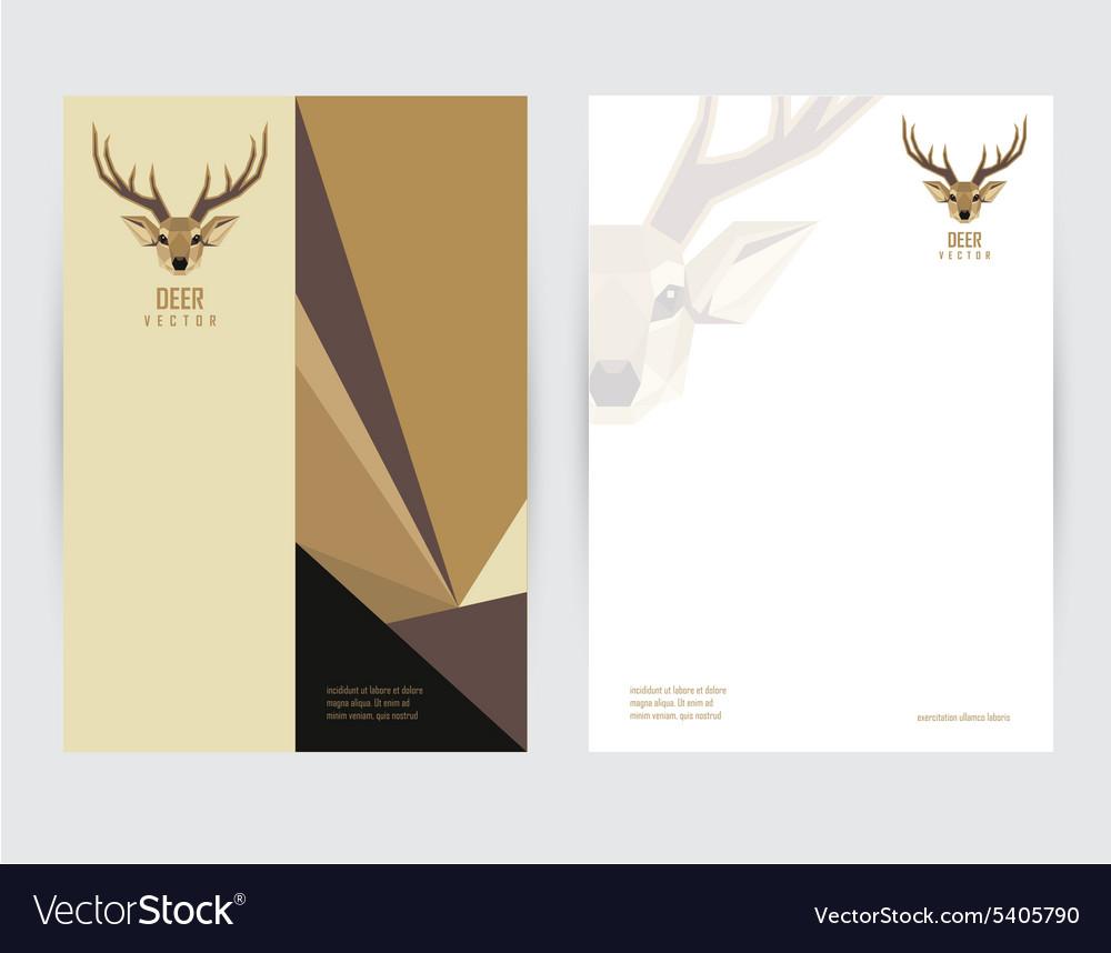 Deer document template vector image