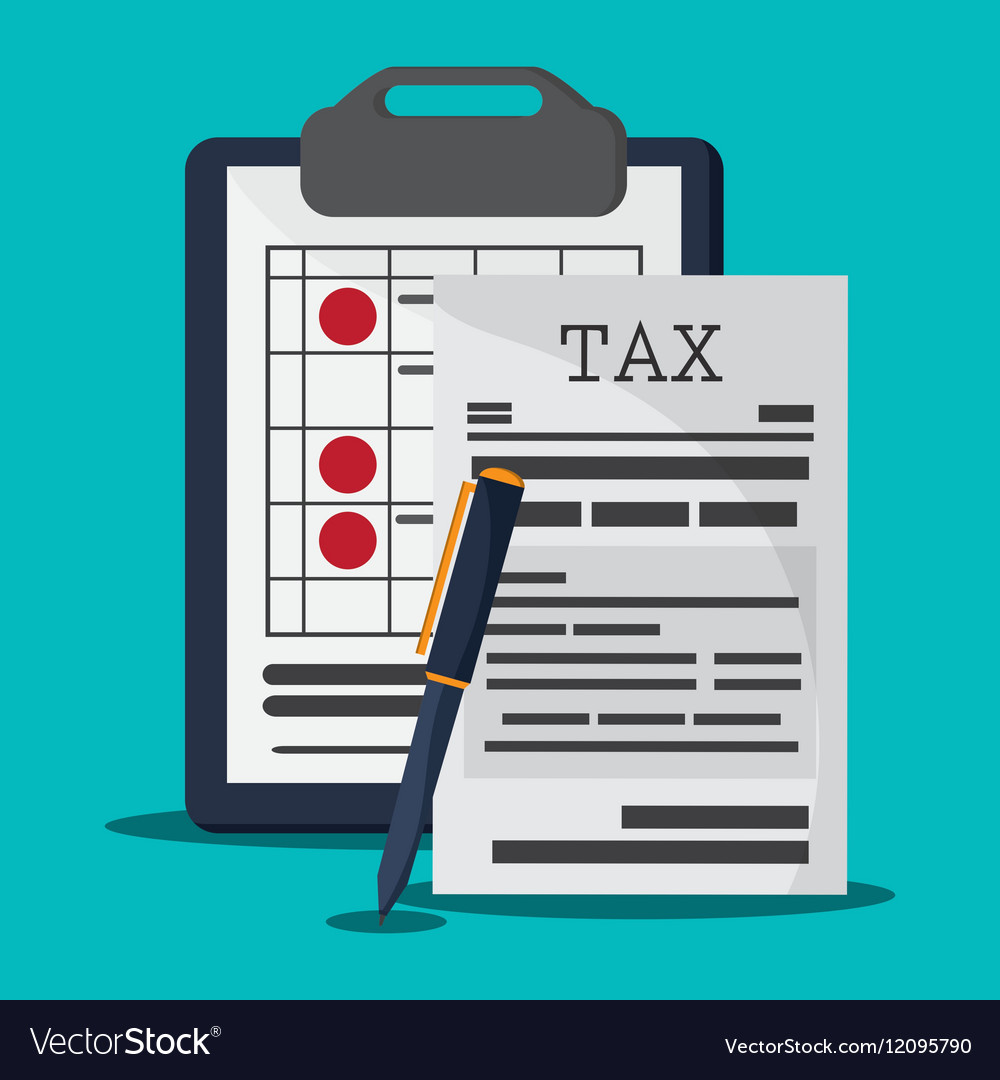 Document and pen icon Tax and Financial item