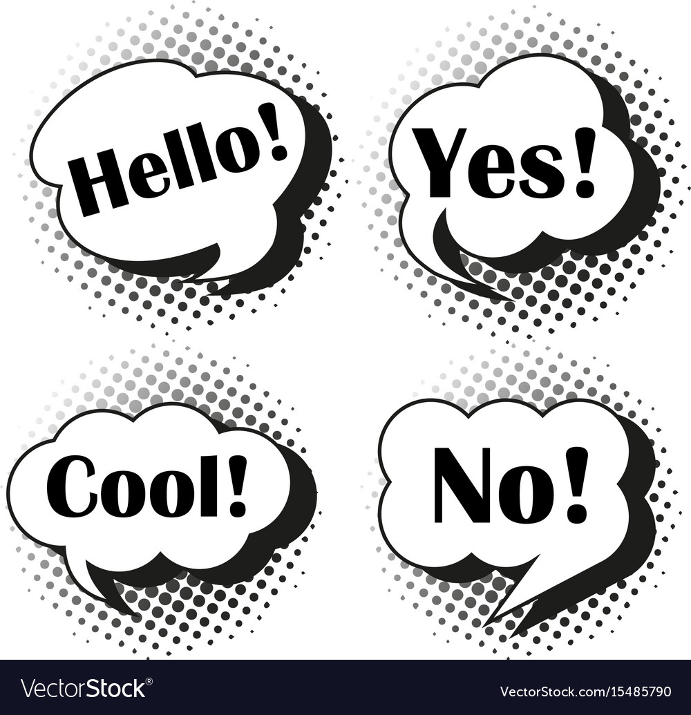 Expressions in speech bubbles vector image