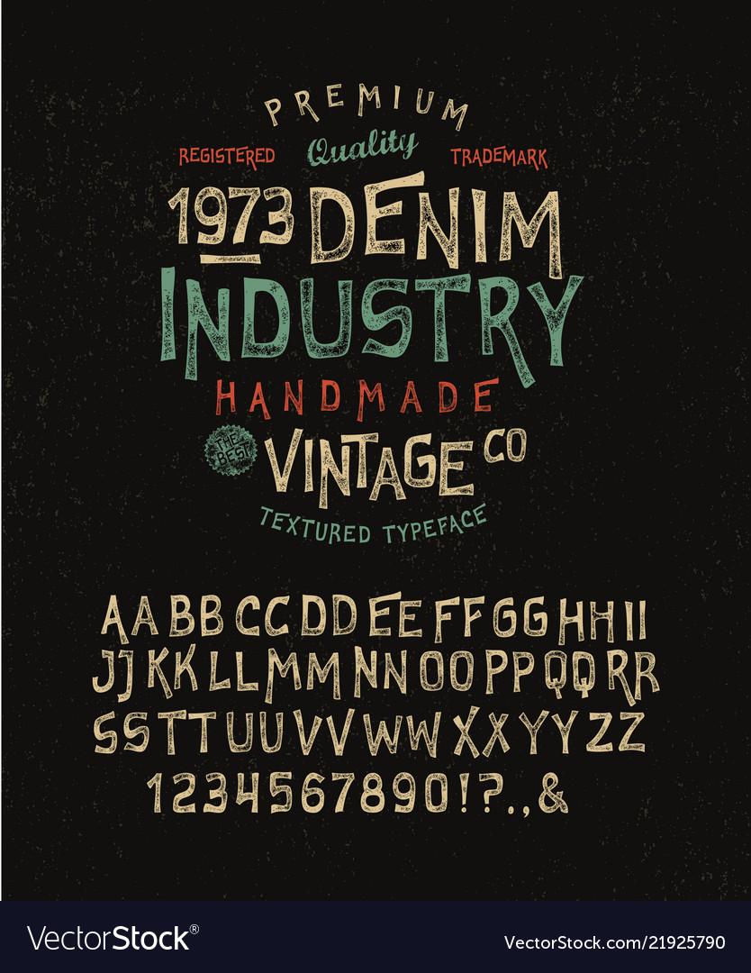 Font denim industry