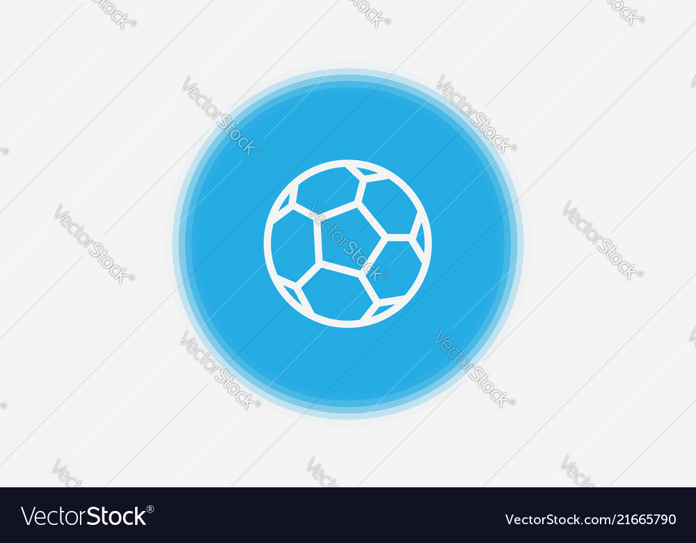 Football ball icon sign symbol