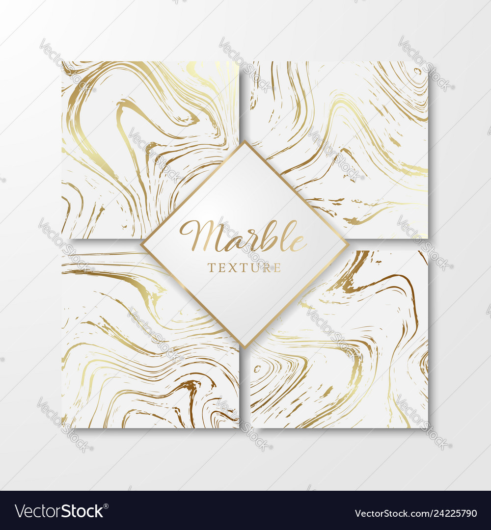 Golden marble design templates for invitation