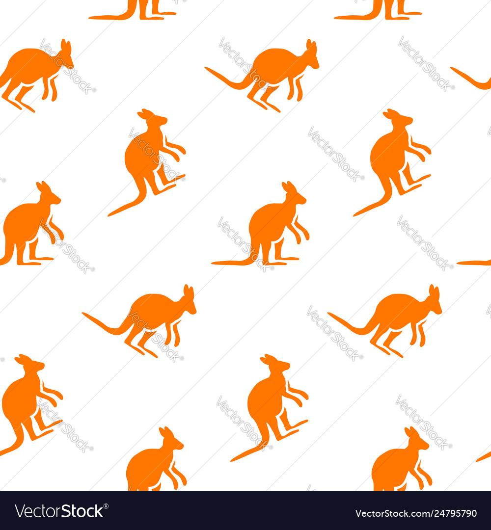 Kangaroo seamless pattern