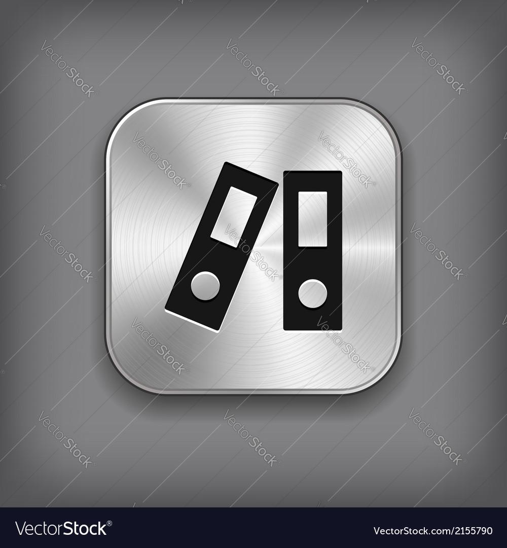 Office folder icon - metal app button