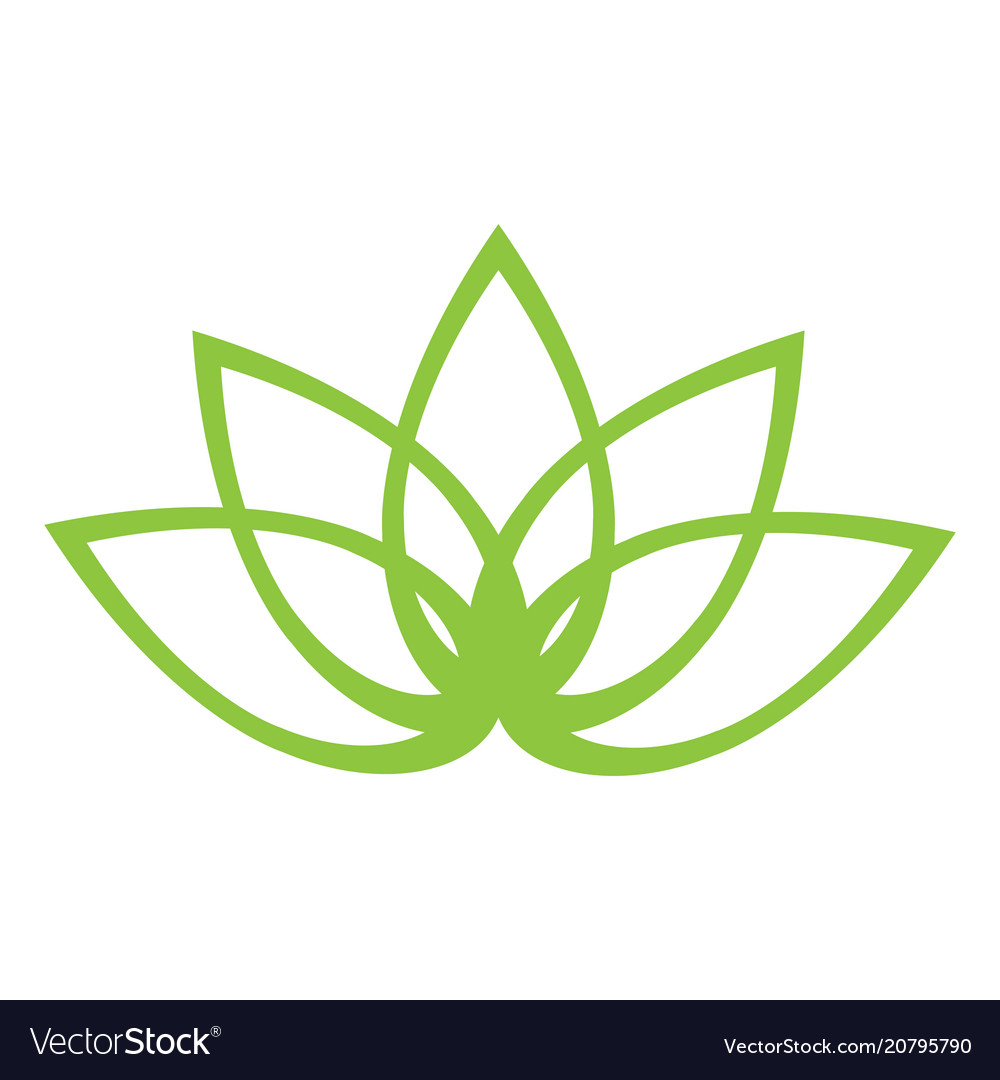 Outline of a lotus flower royalty free vector image outline of a lotus flower vector image mightylinksfo