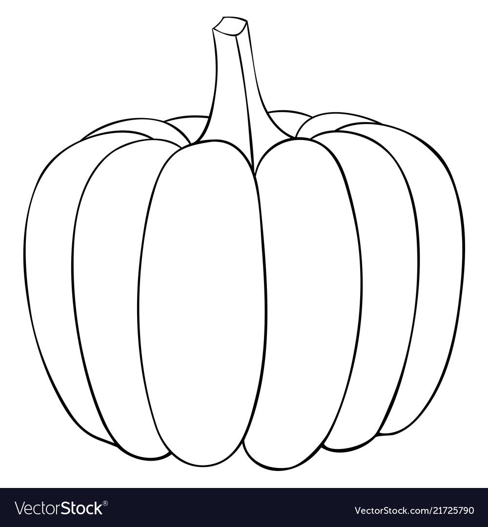 Pumpkin Outline Doodle Royalty Free Vector Image
