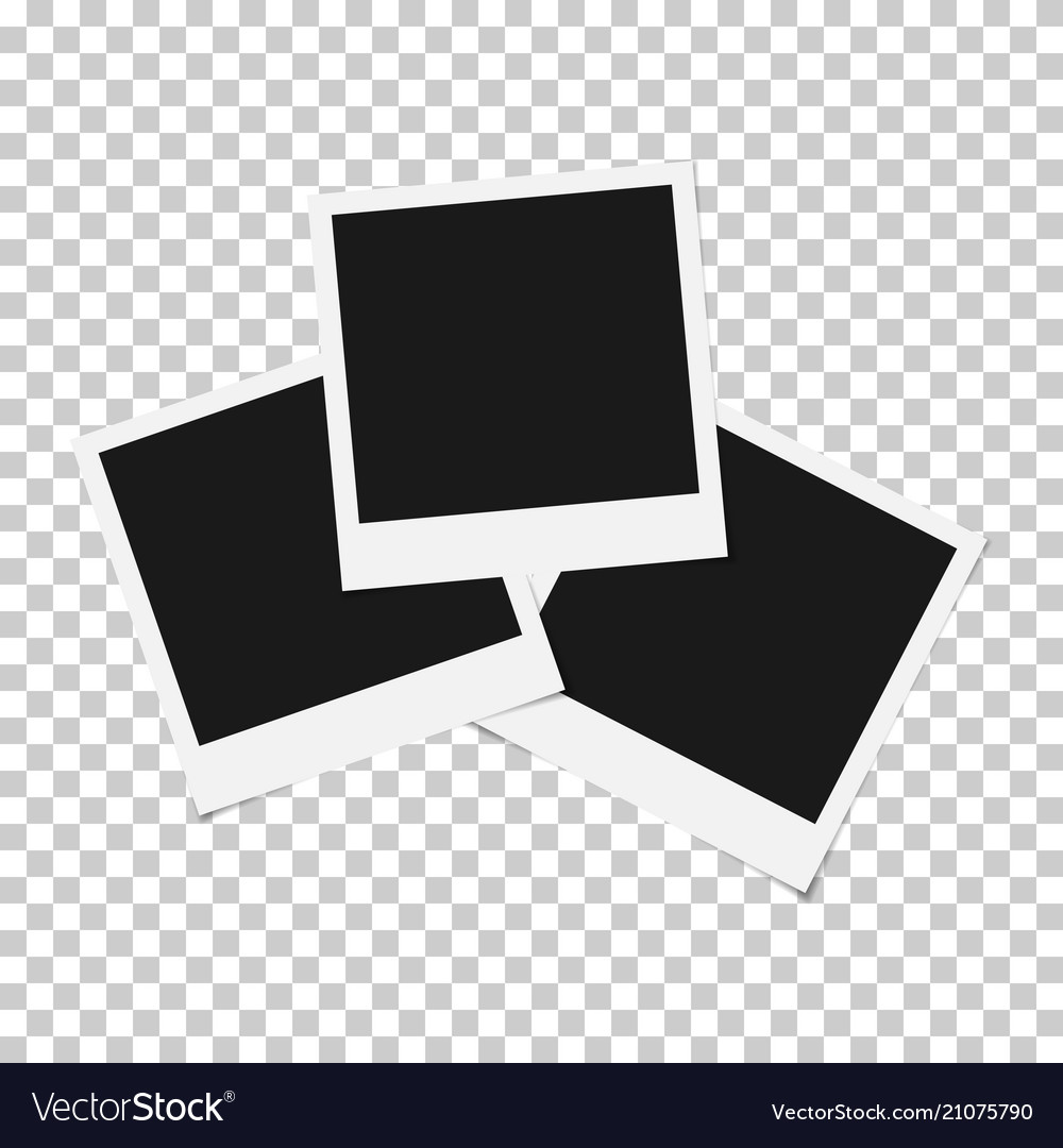 Set Of Mixed Blank Photo Polaroid Frame Isolated O