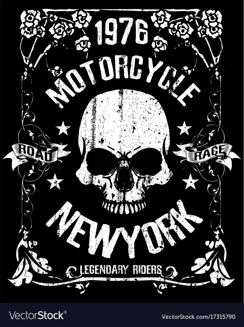 Skull T Shirt Graphic Design Royalty