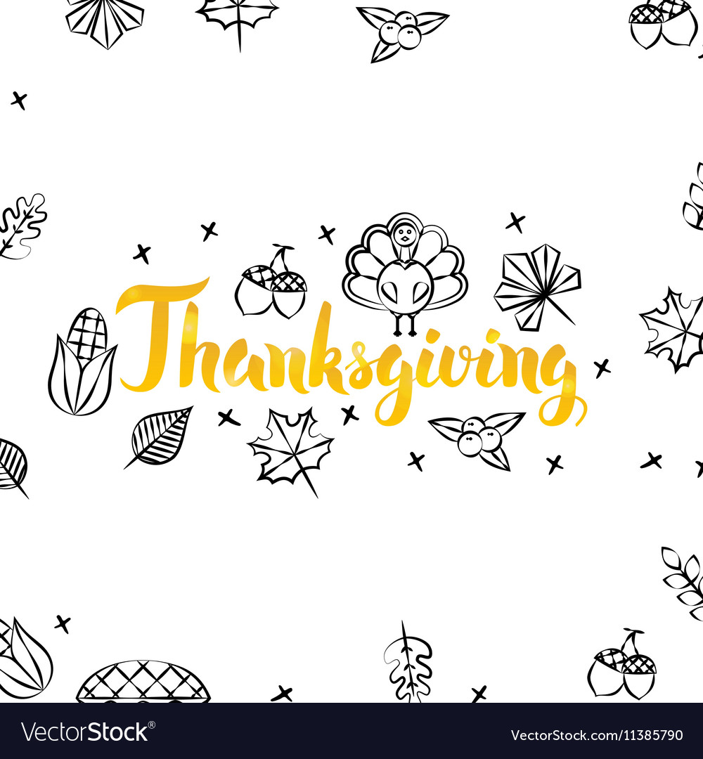 Thanksgiving gold greeting postcard