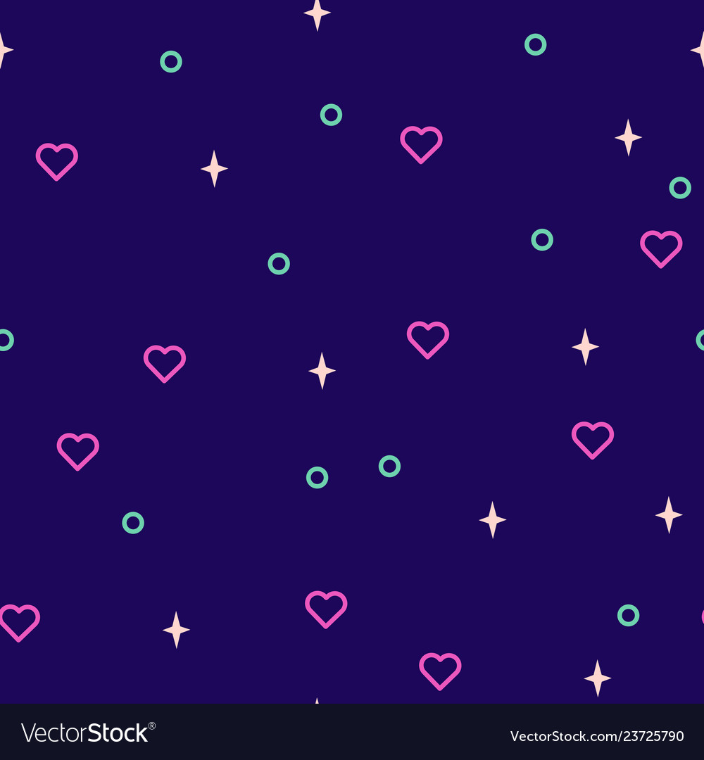 Valentines icon hearts and shapes seamless