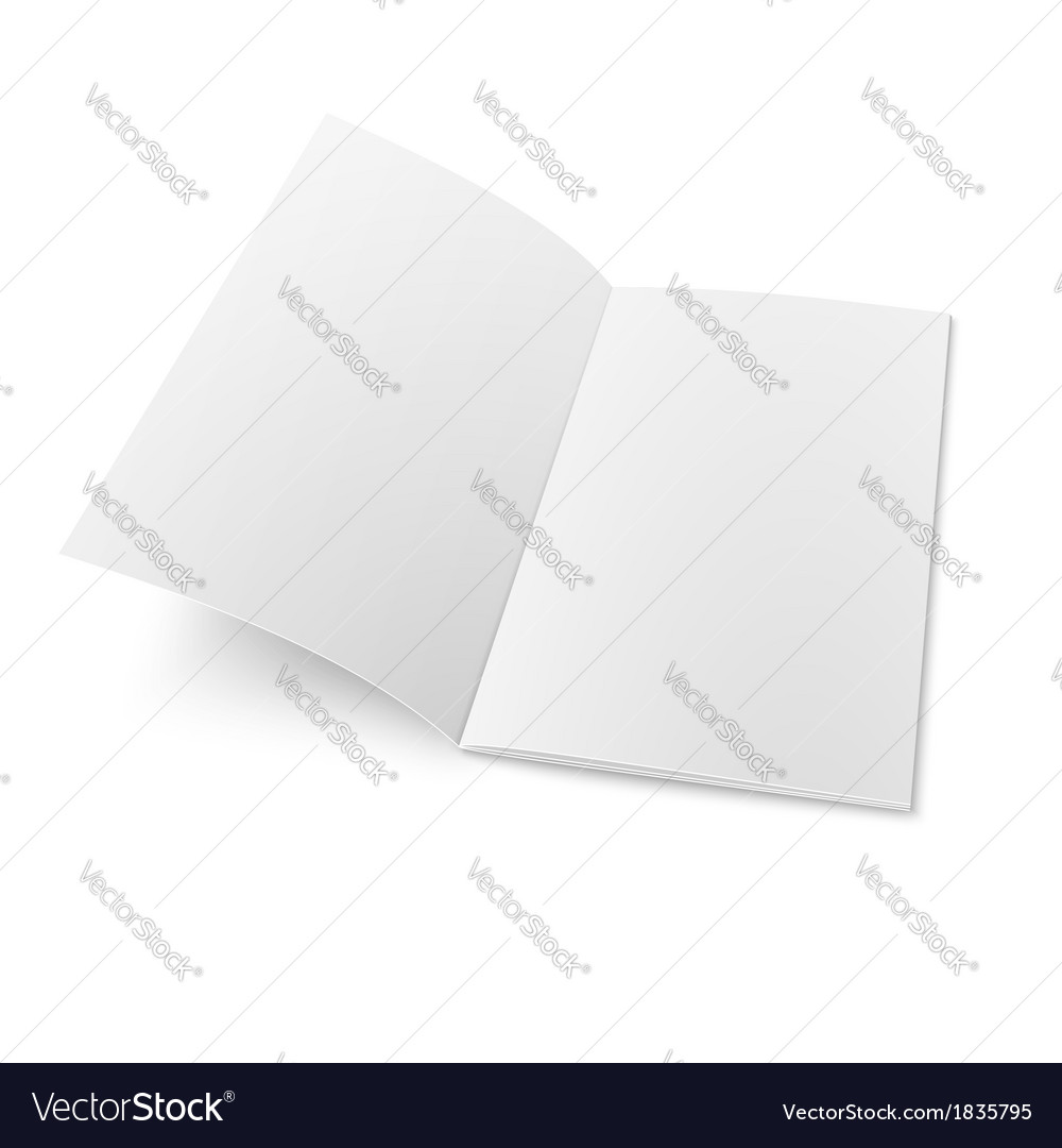 Booklet template on white background