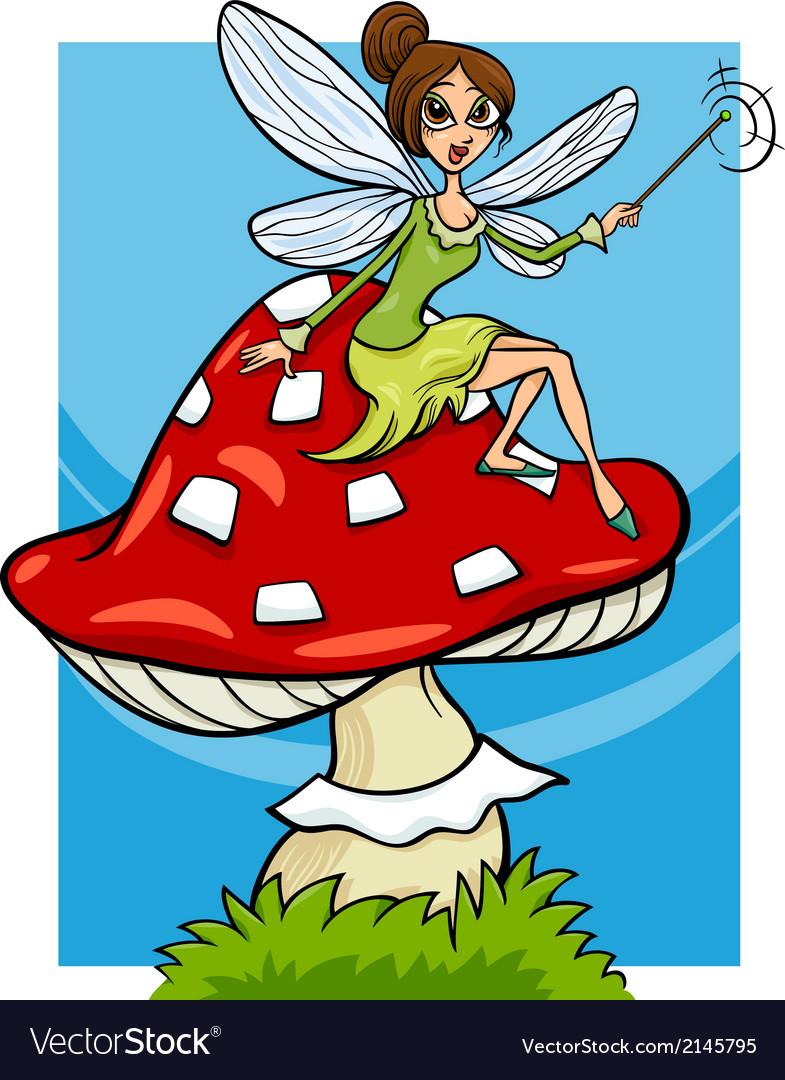 Elf fairy fantasy cartoon vector image