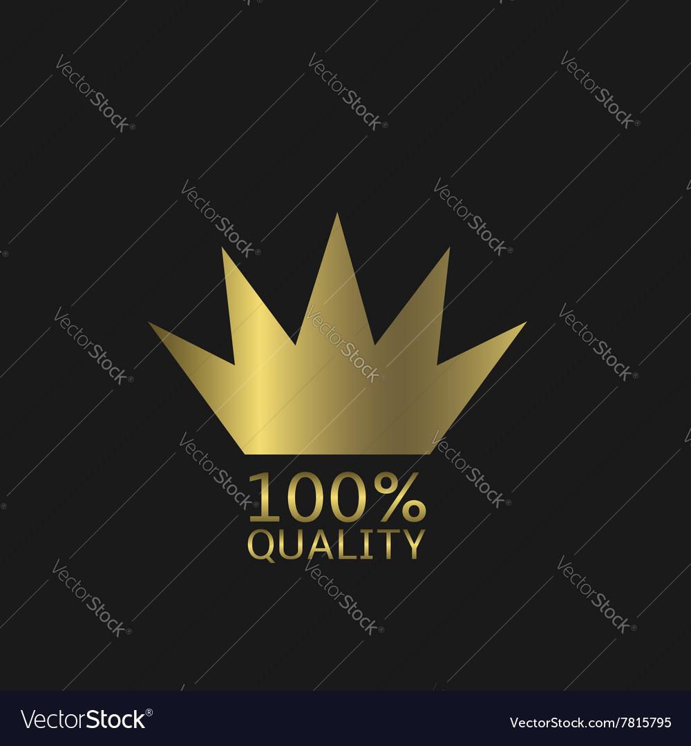 Golden quality icon