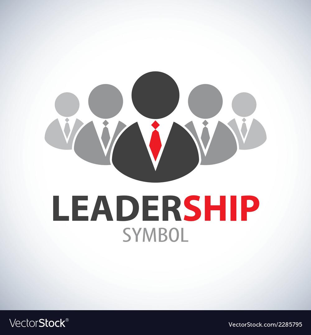Leadership Symbol Icon Royalty Free Vector Image