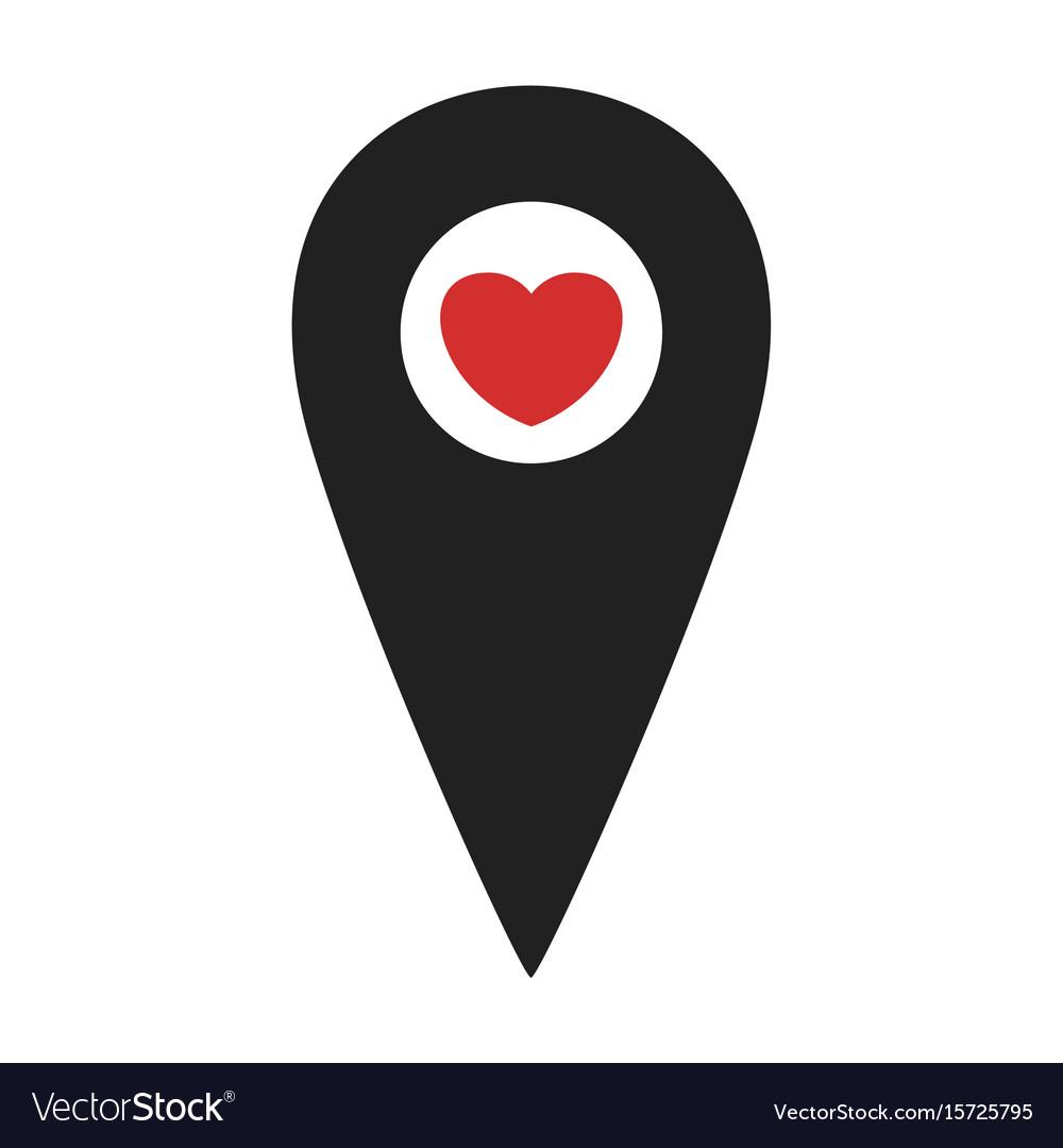Map pin black