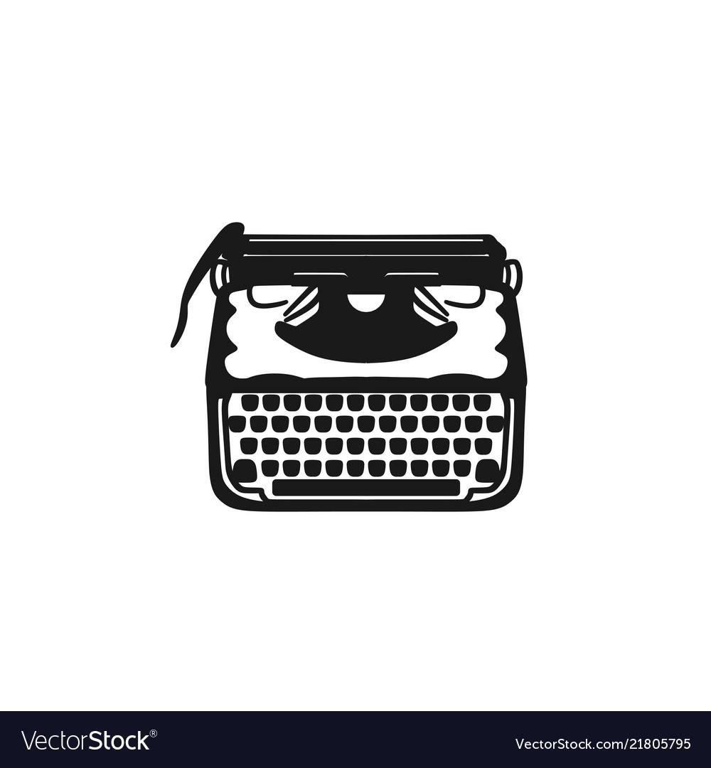 Old typewriter logo design inspiration Royalty Free Vector
