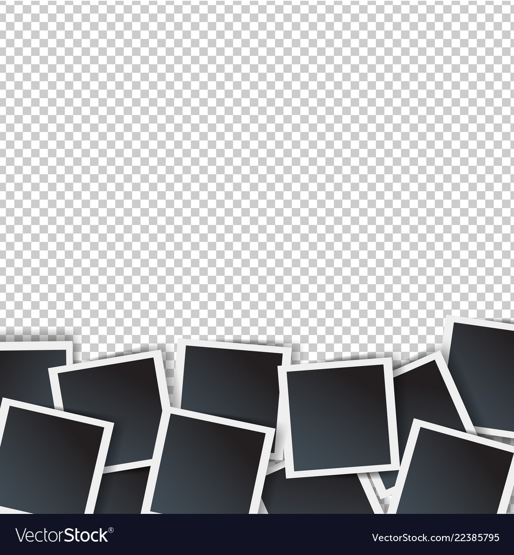 Photo border isolated transparent background