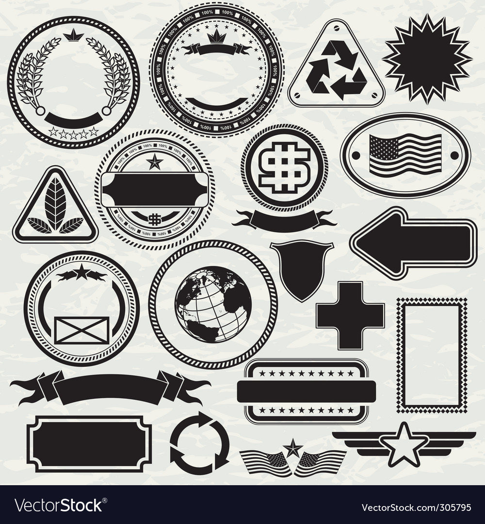 stamps templates royalty free vector image vectorstock
