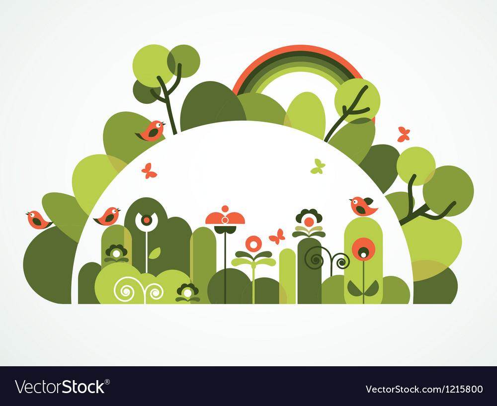 Marvelous Abstract Garden Vector Image