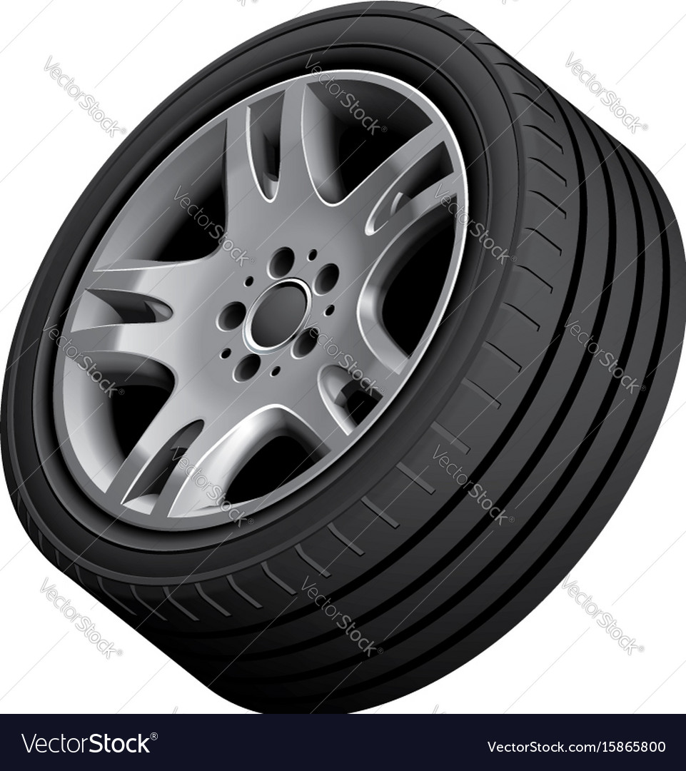 Aluminium alloy wheel vector image